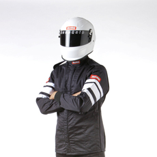 RACEQUIP SFI-5 JACKET BLACK LARGE