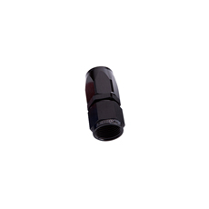 STRAIGHT HOSE END -4AN BLACK