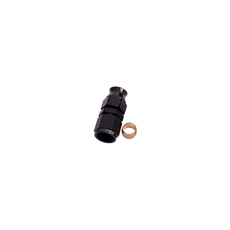 "1/4"" TUBE FEMALE -4AN ADAPTER BLACK SWIVEL NUT WITH OLIVE"
