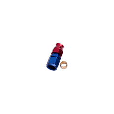 "1/4"" TUBE FEMALE -4AN ADAPTER BLUE SWIVEL NUT WITH OLIVE"