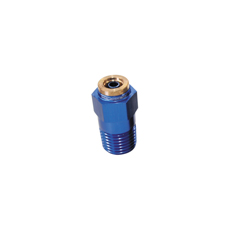 "1/8""-27 NPT STRAIGHT TO 3/16"" FLEXIBLE NYLON LINE BLUE"