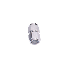 STRAIGHT FEMALE FLARE -3AN    SILVER SWIVEL COUPLER