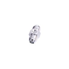 "STRAIGHT MALE - MALE -3AN     SILVER WITH 1/8"" NPT PORT"