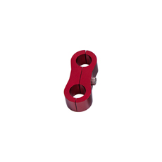 "BILLET DUAL HOSE SEPERATOR    RED 11MM ID OR 7/16"" ID"