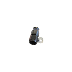 ALLOY STRAIGHT HOSE END -3AN  BLACK SWIVEL NUT SUIT TEFLON
