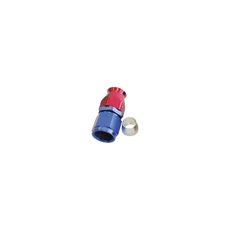 ALLOY STRAIGHT HOSE END -3AN  BLUE SWIVEL NUT SUIT TEFLON