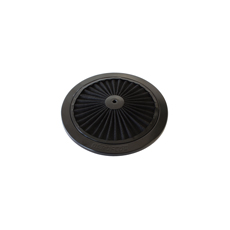 "Black Full Flow Air Filter Top Plate 9"" diamater"