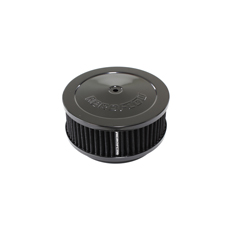 "Black Air Filter Assembly 6-3/8"" x 2-1/2"", 5-1/8"" neck"