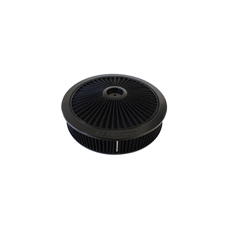 "Black Full Flow Air Filter Assembly with 1-1/8"" Drop base"