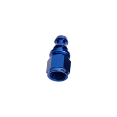 STRAIGHT PUSH LOCK END -4AN   BLUE NO CLAMP REQUIRED