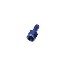 "FEMALE -6AN TO 3/8"" BARB      BLUE WITH TUBE NUT"
