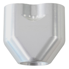 AEROFLOW -10AN TO 2x-8AN      FEMALE ORB Y- BLOCK SILVER