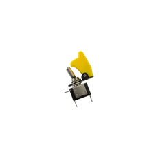 YELLOW LED MISSILE SWITCH     LED ACTIVATED WHEN ON