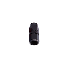 ALLOY STRAIGHT HOSE END -4AN  BLACK CUTTER STYLE SWIVEL NUT