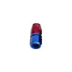 ALLOY STRAIGHT HOSE END -4AN  BLUE CUTTER STYLE SWIVEL NUT