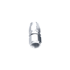 ALLOY STRAIGHT HOSE END -4AN  SILVER CUTTER STYLE SWIVEL NUT