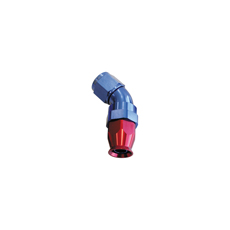 45 DEG -3AN FULL FLOW TEFLON  HOSE END BLUE 1 PIECE FULLFLOW