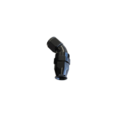 45 DEG -3AN FULL FLOW TEFLON  HOSE END BLACK 1 PIECE FULLFLO