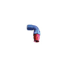 90 DEG -3AN FULL FLOW TEFLON  HOSE END BLUE 1 PIECE FULLFLOW