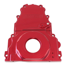 HOLDEN / CHEV LS BILLET 2 PIECTIMING COVER RED