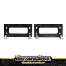 GAZZARD CHASSIS SIDE MOUNT SLIDE WELD IN PLATE PAIR