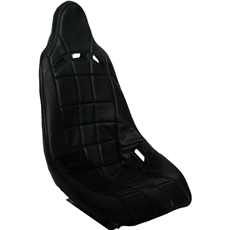 RCI HIGH BACK SEAT COVER-BLACK