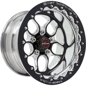 BILLET SPECIALTIES WIN LITE 15 X 8 3.5BS 4.5 BLACK SINGLE BEADLOCK