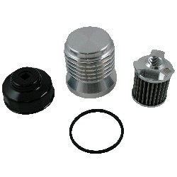 K AND P BILLET OIL FILTER - FORD