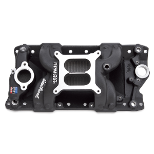 RPM AIR GAP MANIFOLD SBC BLACK