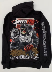 SPEEDPRO BEAR HOODIE SIZE LARGE