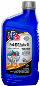 VP PRO GRADE 15W50 SYNTHETIC RACING OIL 946ml